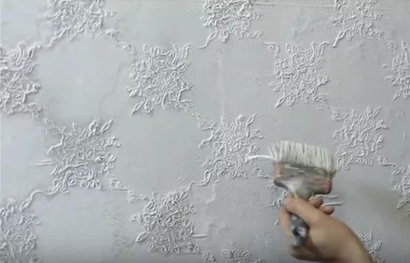 Дешёвый способ армирования стен старым тюлем: надежно, просто + оригинальный декор стен