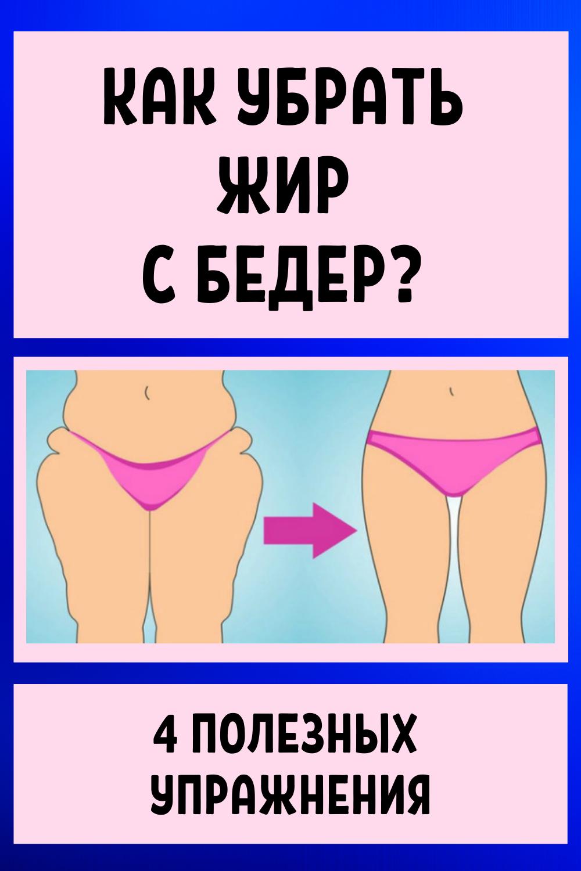 Как убрать жир с бедер? 4 полезных упражнения