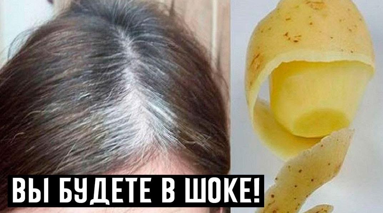 Как использовать отвар из картофеля для избавления от седины волос